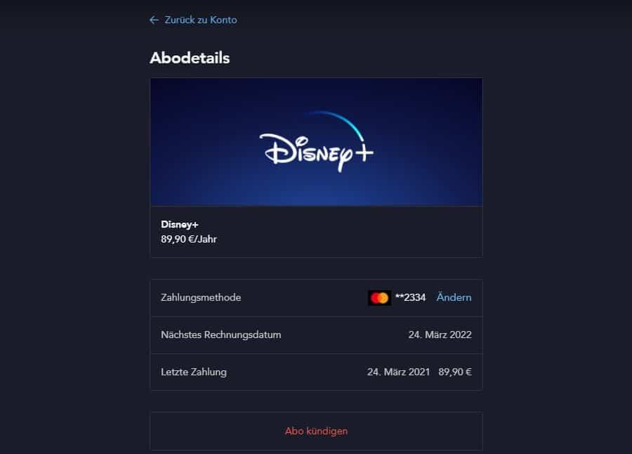 Disney Plus Probemonat kündigen